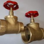 Клапан пожарный проходной латунный